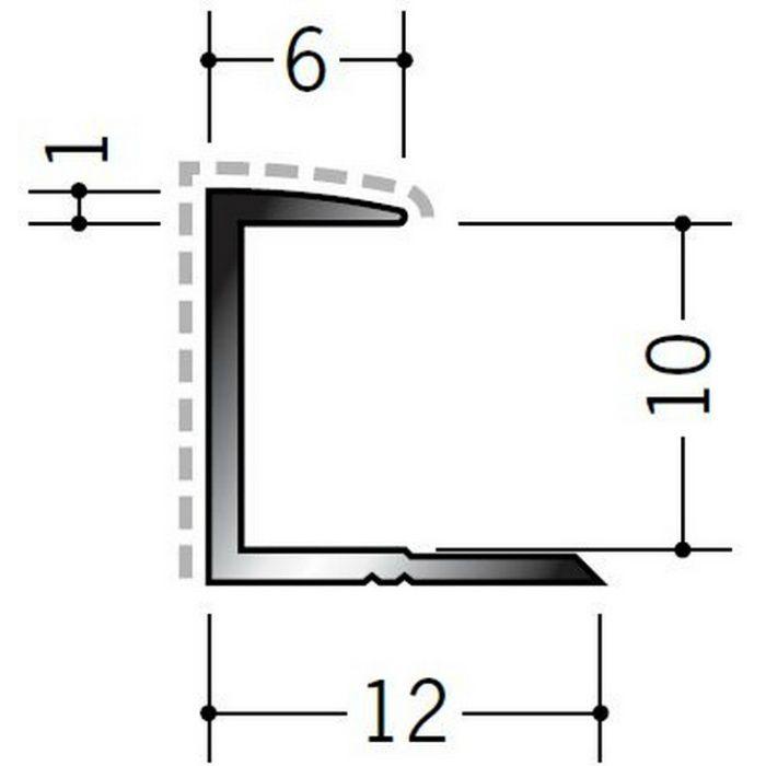 アクリルペイントジョイナー コ型 アルミ 9CA カラー バニラホワイト 2.73m  54205-1