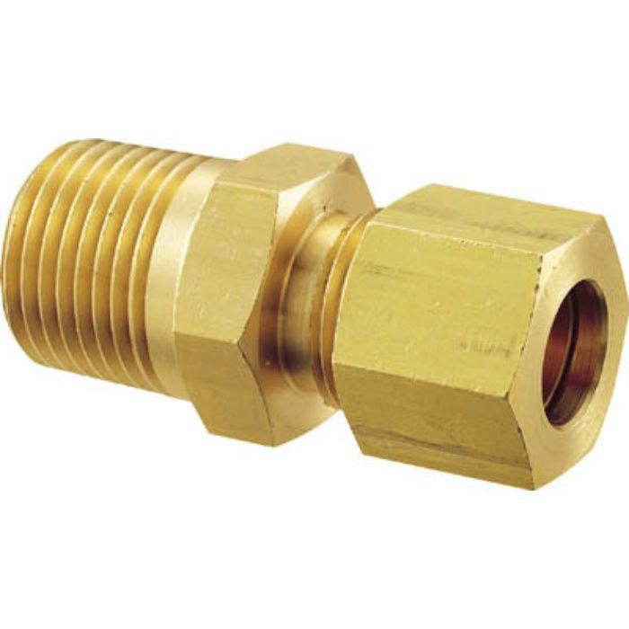 GC6X14B 黄銅製ハーフユニオン Φ6×1/4B 銅管用 くい込み継手