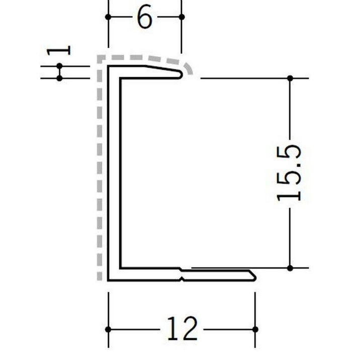 アクリルペイントジョイナー コ型 アルミ 15CA カラー バニラホワイト 2.73m  54208-1