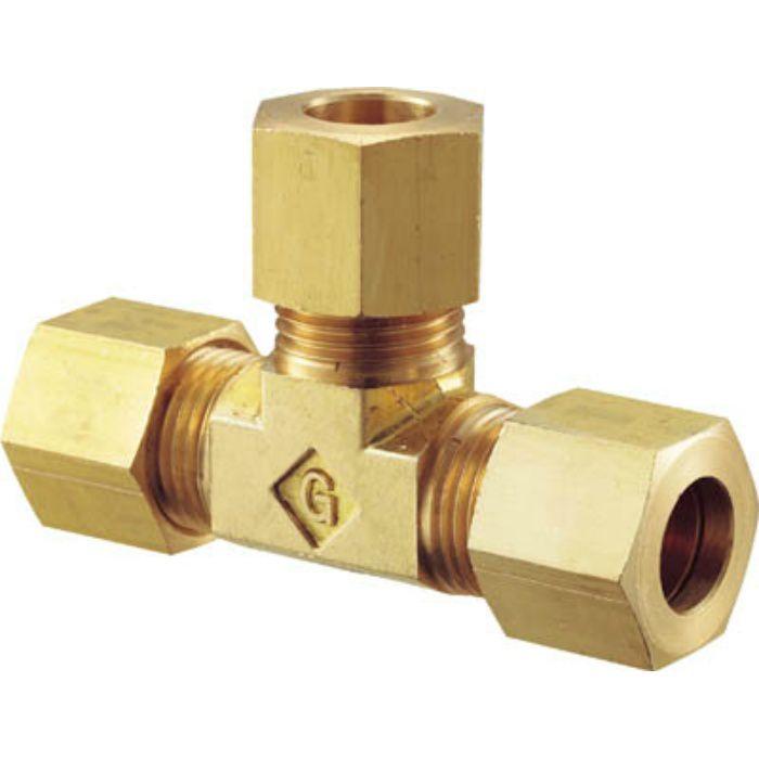 GTI6B 黄銅製ユニオンチーズ ティー Φ6 銅管用 くい込み継手