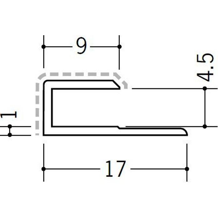 アクリルペイントジョイナー コ型 アルミ 4.5CS カラー カスタムブラック 2.73m  54231-2