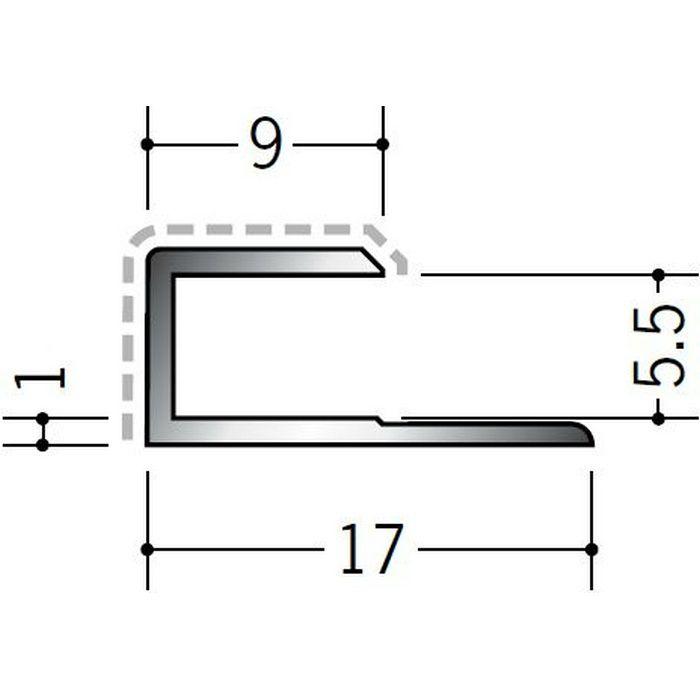 アクリルペイントジョイナー コ型 アルミ 5.5CS カラー バニラホワイト 2.73m  54232-1