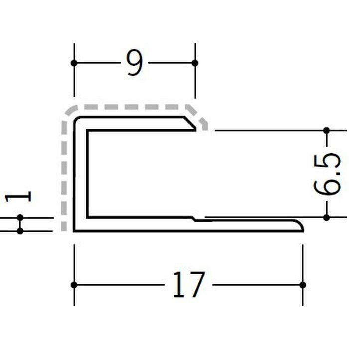 アクリルペイントジョイナー コ型 アルミ 6.5CS カラー バニラホワイト 2.73m  54233-1