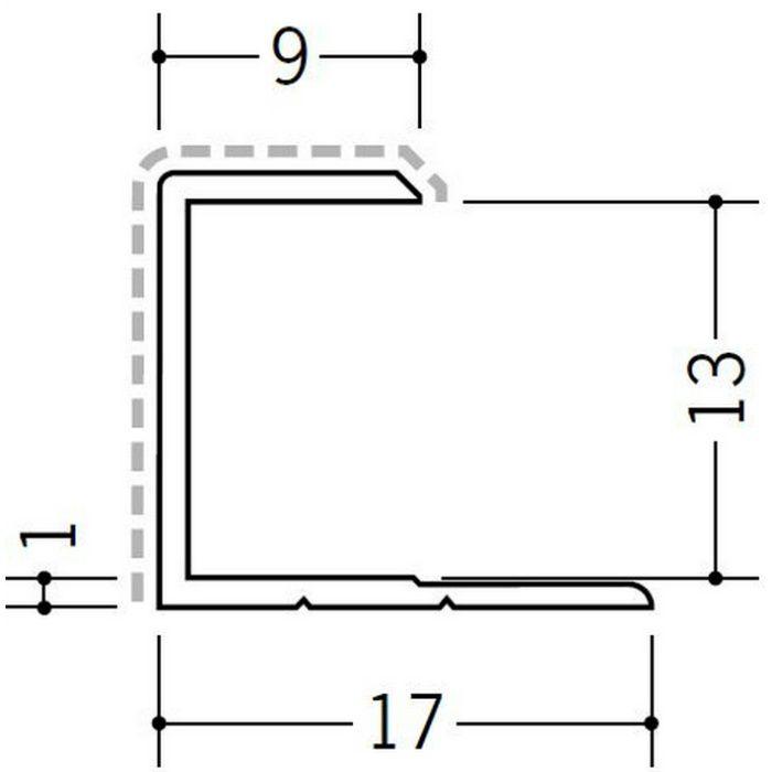 アクリルペイントジョイナー コ型 アルミ 12.5CS カラー カスタムブラック 2.73m  54237-2