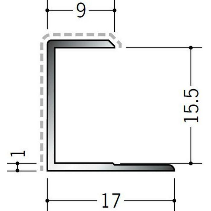 アクリルペイントジョイナー コ型 アルミ 15.5CS カラー カスタムブラック 2.73m  54238-2