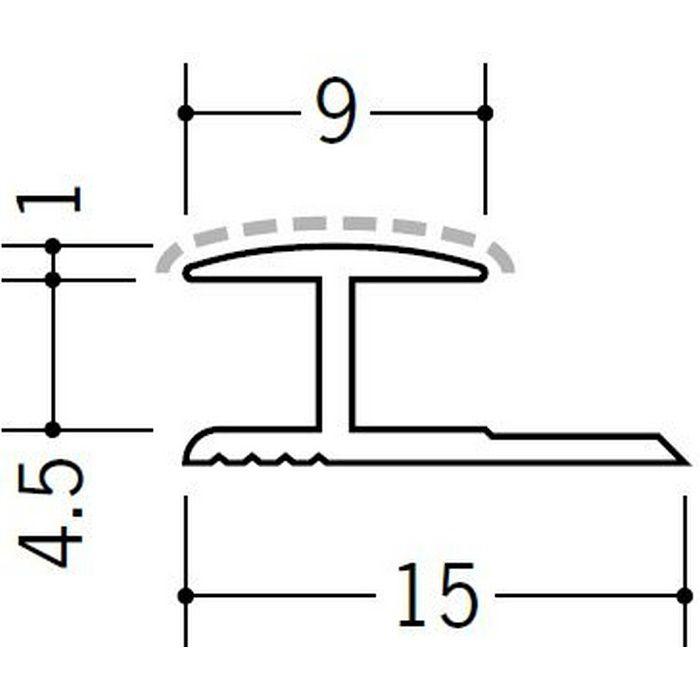 アクリルペイントジョイナー H型 アルミ 4HA カラー バニラホワイト 2.73m  54211-1