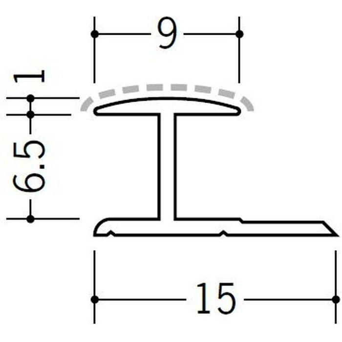 アクリルペイントジョイナー H型 アルミ 6HA カラー バニラホワイト 2.73m  54213-1