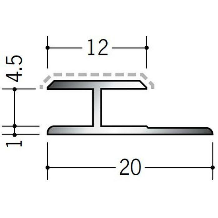 アクリルペイントジョイナー H型 アルミ 4.5HS カラー バニラホワイト 2.73m  54240-1