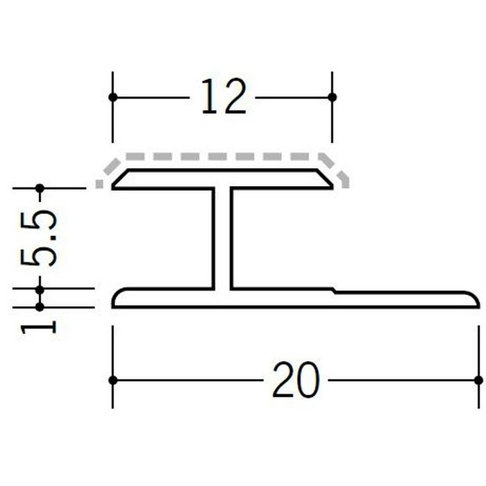 アクリルペイントジョイナー H型 アルミ 5.5HS カラー カスタムブラック 2.73m  54241-2
