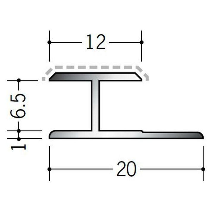 アクリルペイントジョイナー H型 アルミ 6.5HS カラー バニラホワイト 2.73m  54242-1