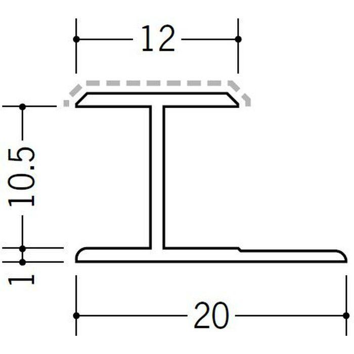 アクリルペイントジョイナー H型 アルミ 10.5HS カラー バニラホワイト 2.73m  54245-1