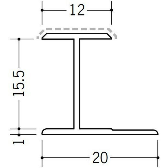 アクリルペイントジョイナー H型 アルミ 15.5HS カラー バニラホワイト 2.73m  54247-1