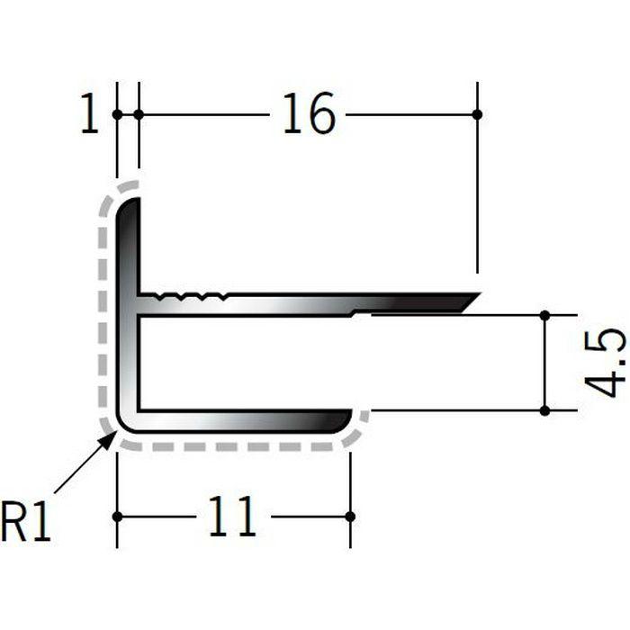 アクリルペイントジョイナー 出隅 アルミ 4AD カラー バニラホワイト 2.73m  50121-1