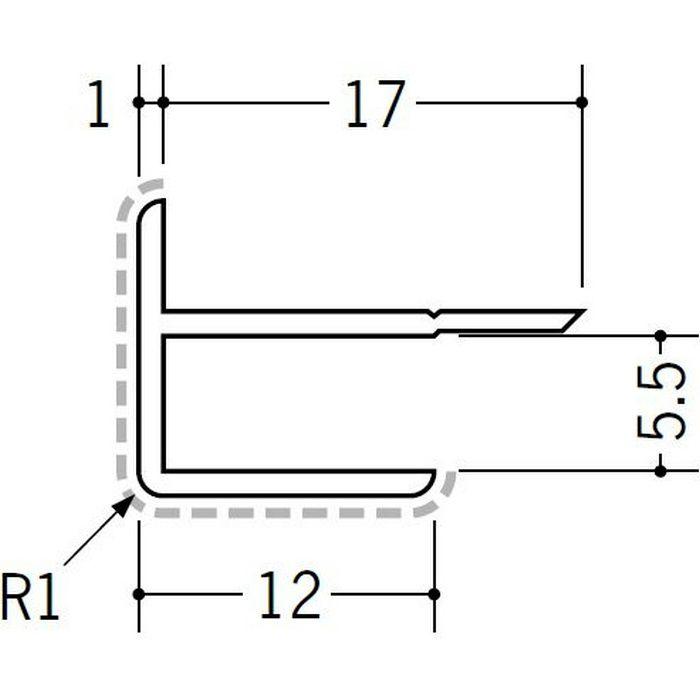 アクリルペイントジョイナー 出隅 アルミ 5AD カラー カスタムブラック 2.73m  50122-2