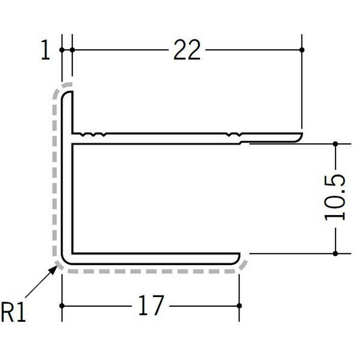 アクリルペイントジョイナー 出隅 アルミ 10AD カラー バニラホワイト 2.73m  50126-1