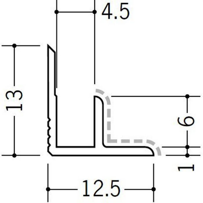 アクリルペイントジョイナー 入隅 アルミ 4AB カラー バニラホワイト 2.73m  50131-1
