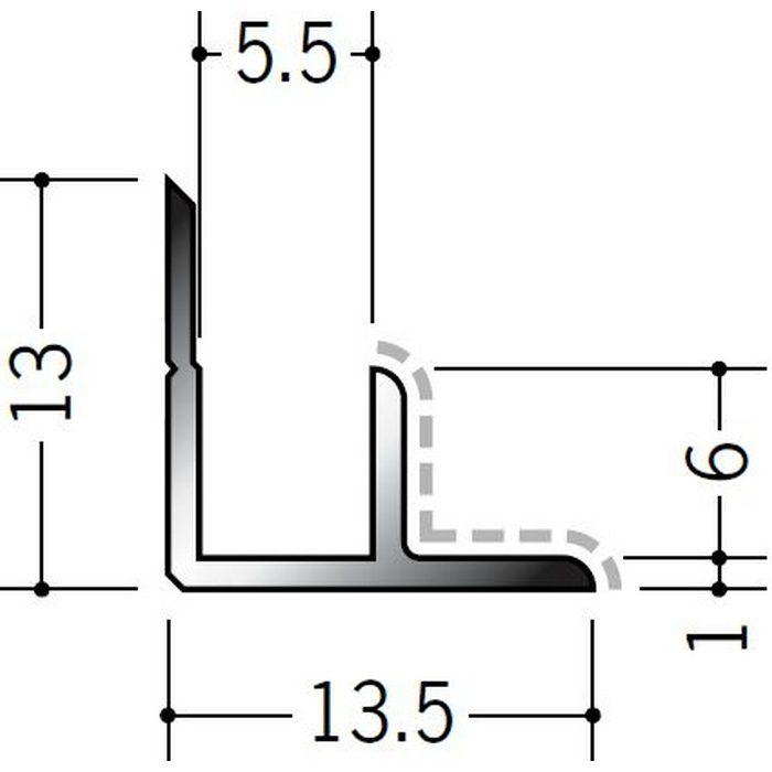 アクリルペイントジョイナー 入隅 アルミ 5AB カラー バニラホワイト 2.73m  50132-1