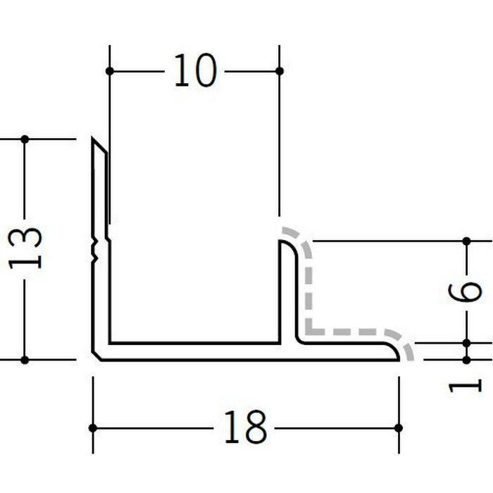 アクリルペイントジョイナー 入隅 アルミ 9AB カラー カスタムブラック 2.73m  50135-2