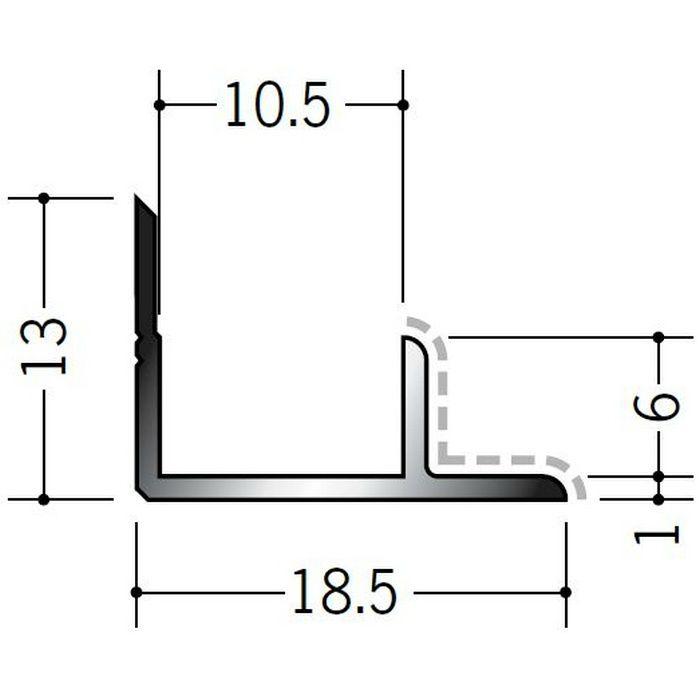 アクリルペイントジョイナー 入隅 アルミ 10AB カラー バニラホワイト 2.73m  50136-1