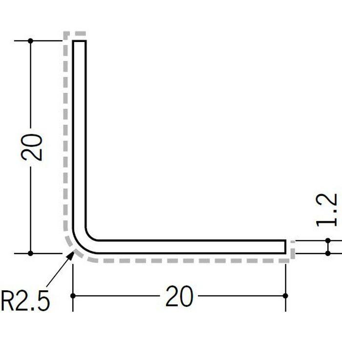 アクリルペイント アングル 出隅用 アルミ カラーL2R20×20出隅用 カスタムブラック 3m  29081-2