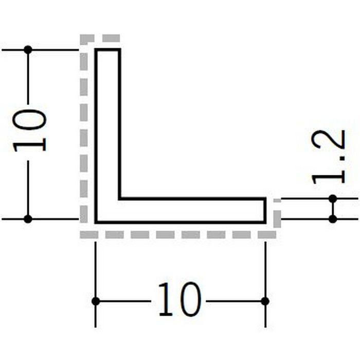 アクリルペイント アングル 出隅用 アルミ カラーL1.2×10×10出隅用 バニラホワイト 3m  29083-1