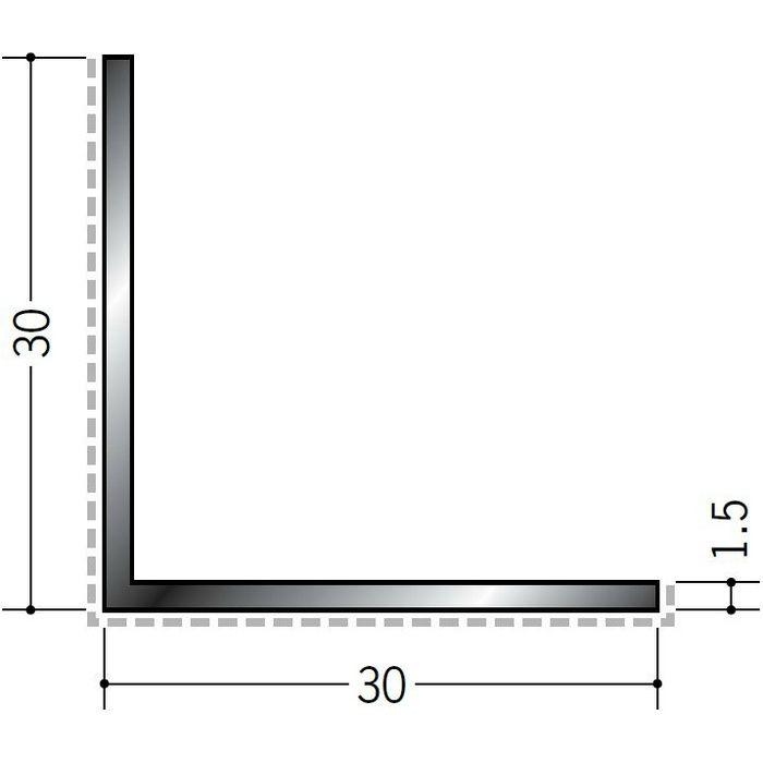 アクリルペイント アングル 出隅用 アルミ カラーL1.5×30×30出隅用 バニラホワイト 3m  29088-1