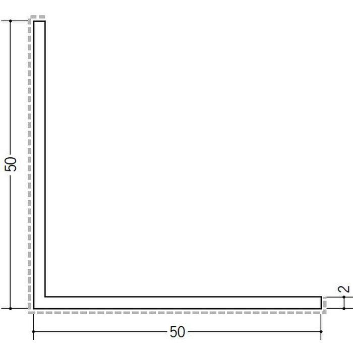 アクリルペイント アングル 出隅用 アルミ カラーL2×50×50出隅用 カスタムブラック 3m  29089-2