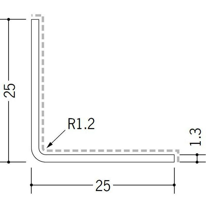 アクリルペイント アングル 入隅用 アルミ カラーL2R25×25入隅用 カスタムブラック 3m  29092-2