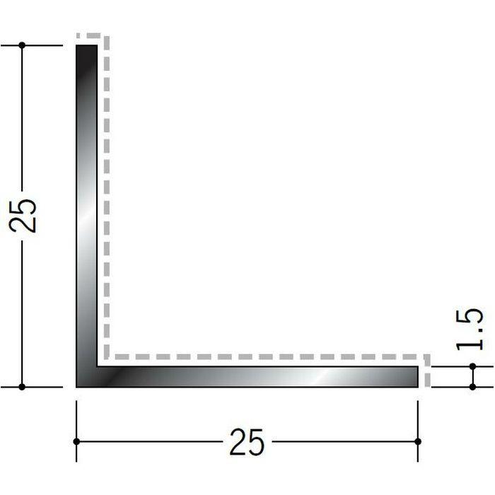 アクリルペイント アングル 入隅用 アルミ カラーL1.5×25×25入隅用 カスタムブラック 3m  29097-2