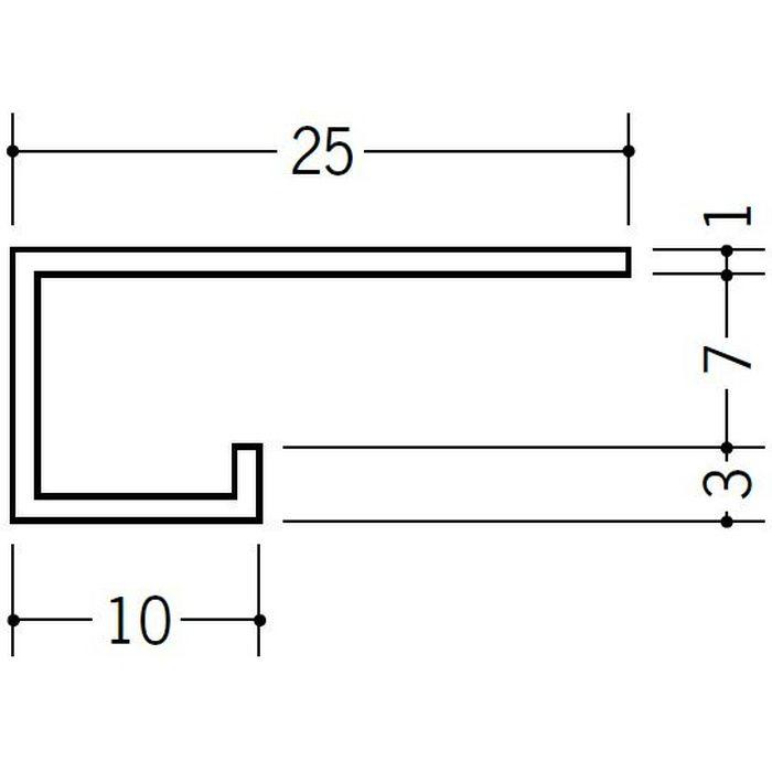 ブラック&ホワイトメタックス見切縁 アルミ A型7BWカラー ホワイトアルマイト1 3m  51115-1