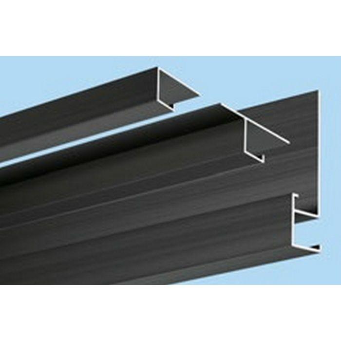 ブラック&ホワイトメタックス見切縁 アルミ CS-8BWカラー 電解ブラック 3m  51152-2