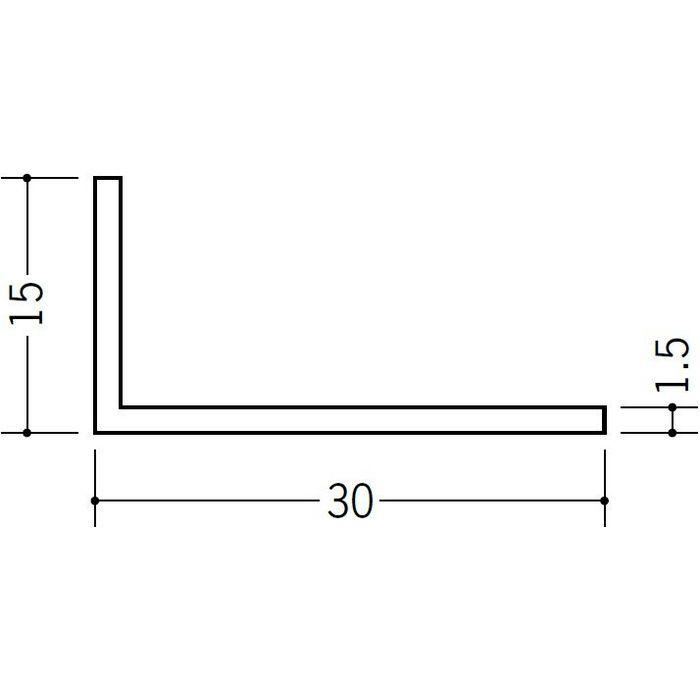 ブラック&ホワイトメタックス アングル アルミ カラーL1.5×15×30BW ホワイトアルマイト1 3m  28053-1