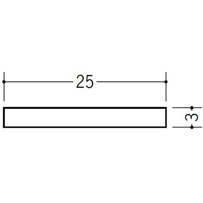 ブラック&ホワイトメタックス 平角・角パイプ・チャンネル アルミ カラー平角3×25BW 電解ブラック 2m  28063-2