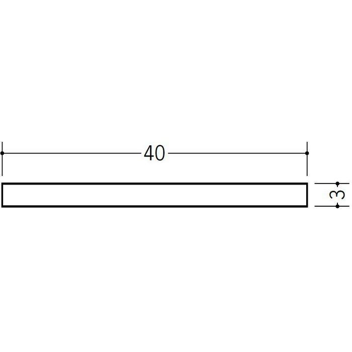ブラック&ホワイトメタックス 平角・角パイプ・チャンネル アルミ カラー平角3×40BW ホワイトアルマイト1 2m  28065-1