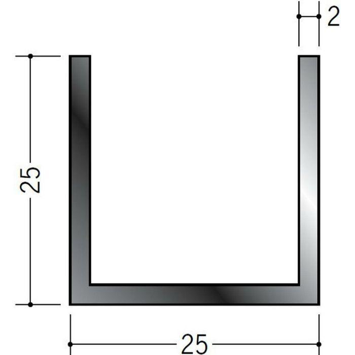ブラック&ホワイトメタックス 平角・角パイプ・チャンネル アルミ カラーチャンネル25×25BW 電解ブラック 2m  28083-2
