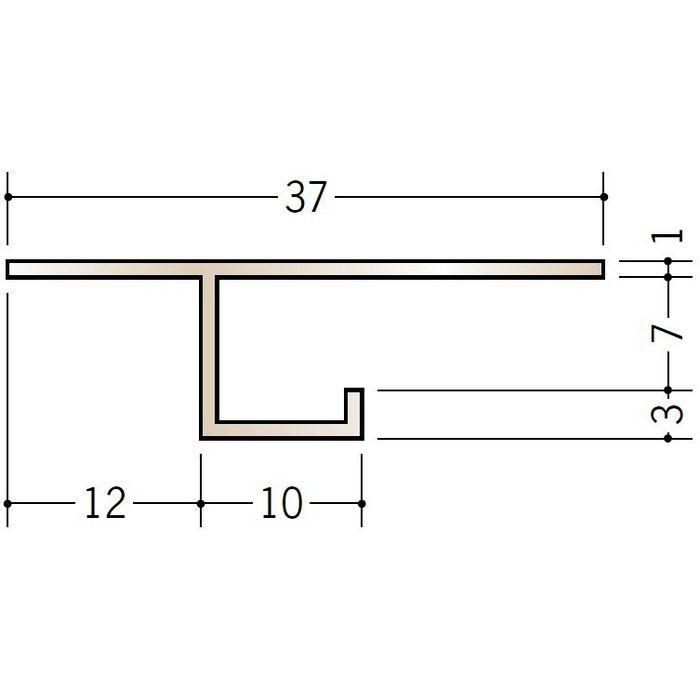 ブロンズメタックス 見切縁 アルミ CS-7BRカラー 電解ライトブロンズ 3m  28005-2