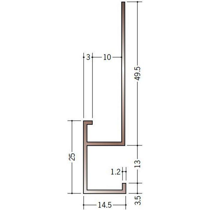 ブロンズメタックス 見切縁 アルミ D型16BRカラー 電解ステンカラー 3m  28010-1