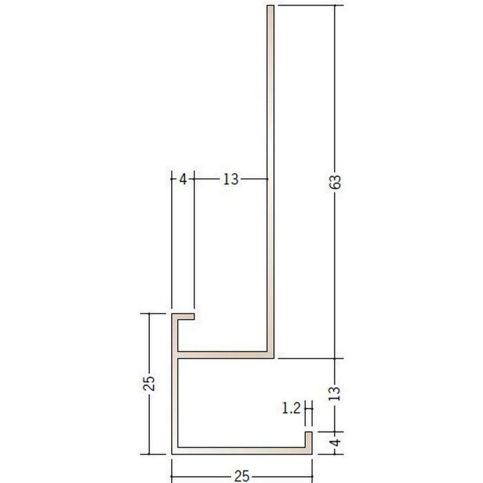 ブロンズメタックス 見切縁 アルミ D型17BRカラー 電解ステンカラー 3m  28012-1