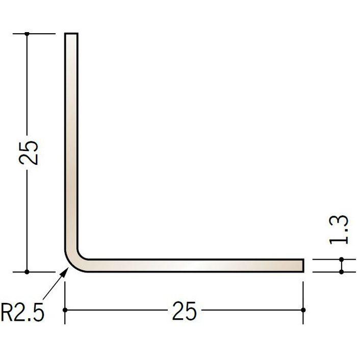 ブロンズメタックス アングル アルミ カラーL2R25×25BR 電解ステンカラー 3m  28016-1