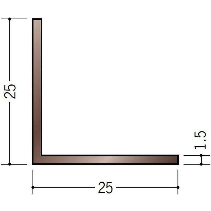 ブロンズメタックス アングル アルミ カラーL1.5×25×25BR 電解ライトブロンズ 3m  28021-2