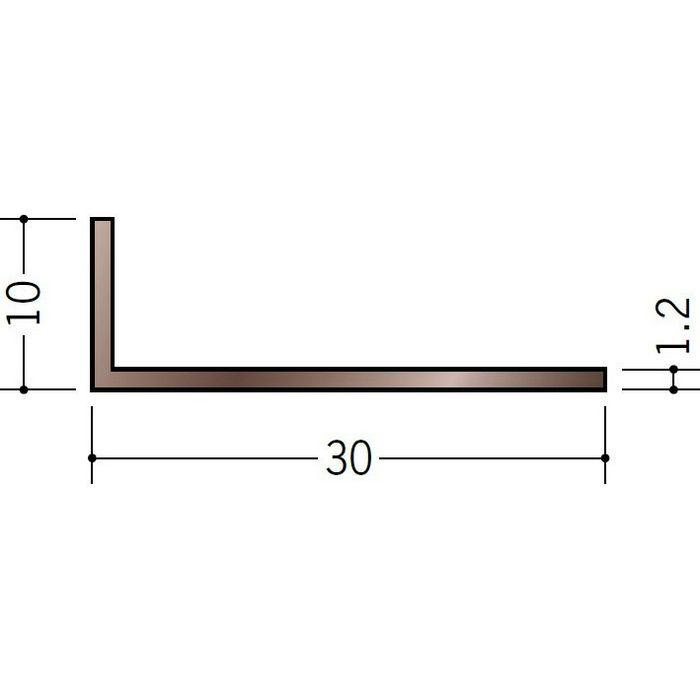 ブロンズメタックス アングル アルミ カラーL1.2×10×30BR 電解ステンカラー 3m  29102-1