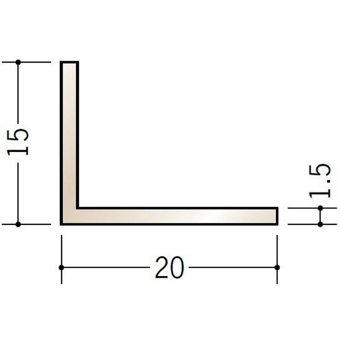 ブロンズメタックス アングル アルミ カラーL1.5×15×20BR 電解ステンカラー 3m  29103-1