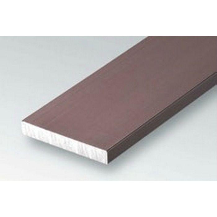 ブロンズメタックス 平角・角パイプ・チャンネル アルミ カラー平角3×25BR 電解ライトブロンズ 2m  29113-2