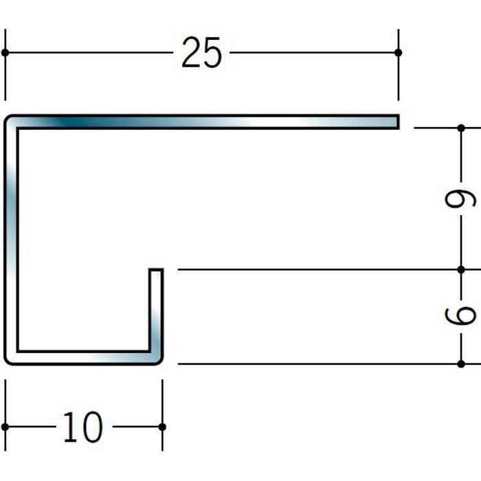 コ型見切縁 ステンレス STC-608 H.L 3m  20042