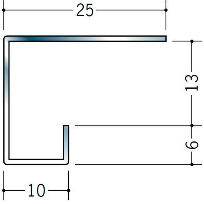 コ型見切縁 ステンレス STC-612 H.L 3m  20044