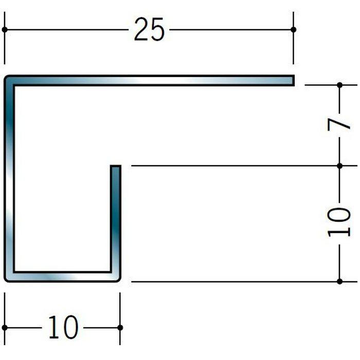 コ型見切縁 ステンレス STC-710 H.L 3m  20172