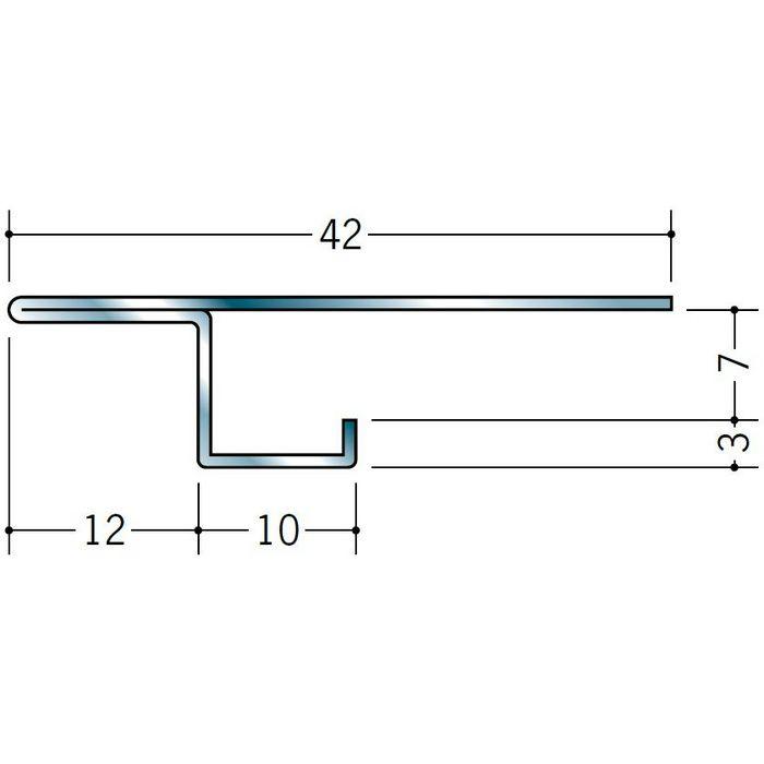 コ型・目透かし型見切縁 ステンレス STZ-6 H.L 3m  20011