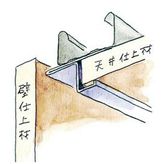 コ型・目透かし型見切縁 ステンレス STZ-12 H.L 3m  20014