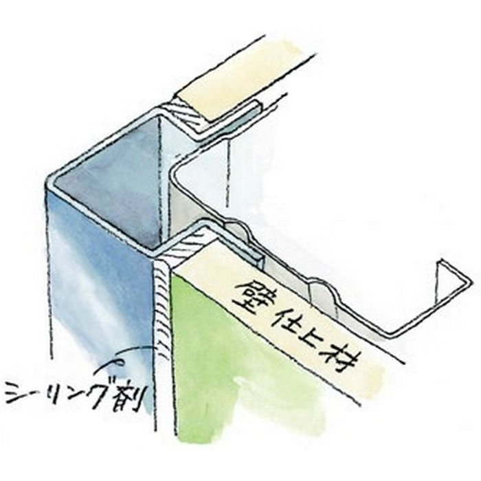 出隅ジョイナー ステンレス 角型出隅9 H.L 2.73m  64042-1