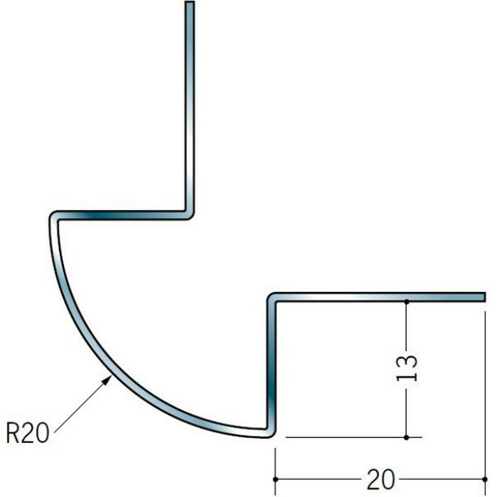 出隅ジョイナー ステンレス DR-1220 H.L 2.73m  64063-1